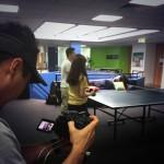 Filming pingpong
