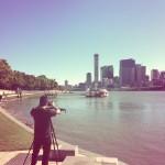 Gustavo filming