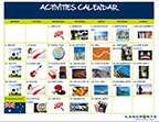 Activities calendar sample copy