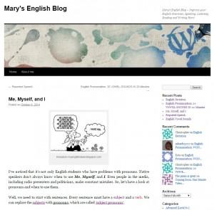 Mary's English Blog