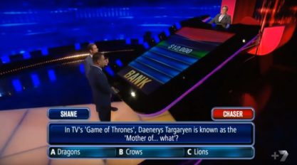My experience on The Chase, an Australian television quiz